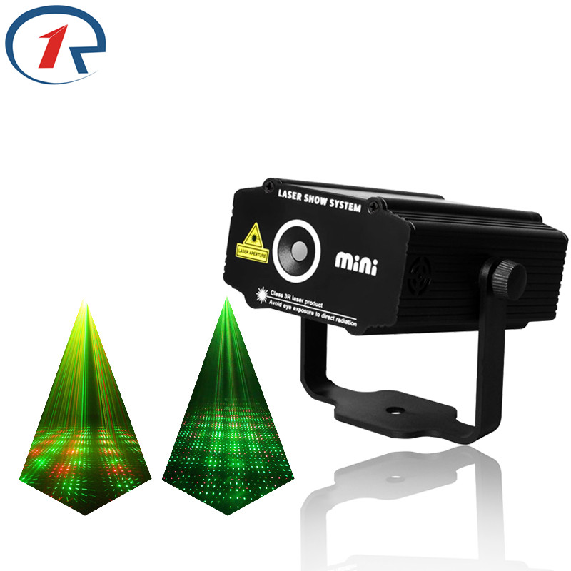 ZjRight Red Green Meteor Laser Light Sound control projection laser stage light gala party effect lights bar ktv dj disco light