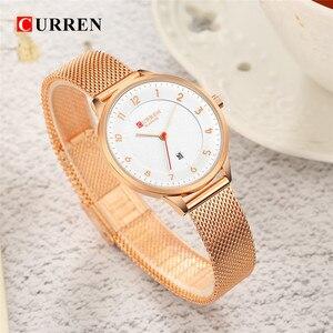 Image 5 - Curren 9035B mode femmes montres en acier inoxydable or montre femmes Curren vente chaude dames montre Quartz femmes montres