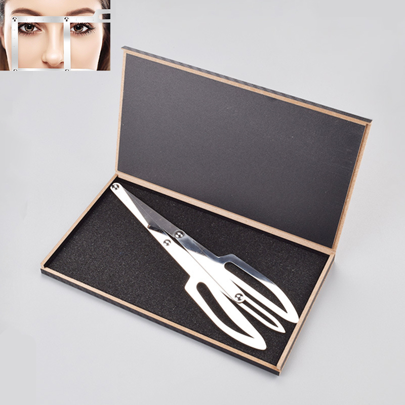 2019 Tebori 1pc Golden Ratio Measure Microblading Stainless Steel Ruler Permanent Makeup Eyebrow Tattoo Design Calipers Stencil