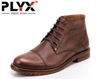 Brand PHLIY XUAN Retro New 2017 Winter Mens Boots For Men Winter Snow Boots Genuine Leather