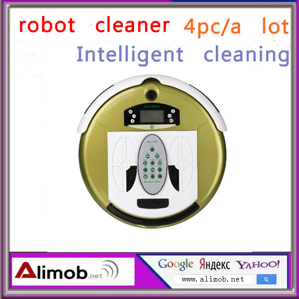 intelligent robot  Vacuum Cleaner (Sweep,Vacuum,Mop,Sterilize)LCD,Touch Button,Schedule Work,Virtual Wall 5 colors free delivery