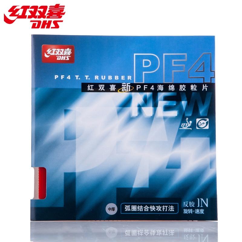 2 Pcs DHS PF4 Original Pimples In Table Tennis Rubber Ping Pong Sponge Tenis De Mesa цены