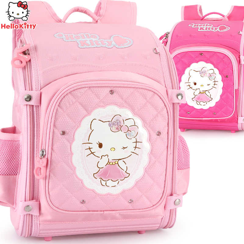 d7a87b839ad Hello Kitty School Backpack kids Bag Children School Bags For girls primary  Schoolbag Orthopedic Backpacks mochila
