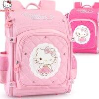 Рисунок «Hello Kitty» школьный рюкзак детский мешок детей школьные сумки для девочек младшего школьный ортопедические рюкзаки mochila plecak bolsa