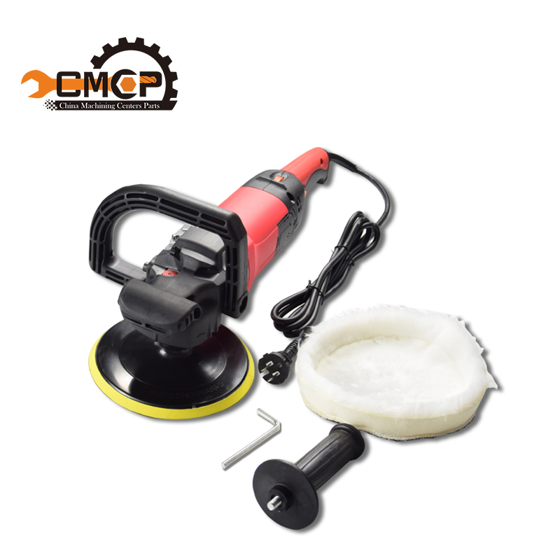 CMCP 1400W Adjustable car polisher polish dia 7''/180mm Variable Speed 3000RPM Car paint Tool car waxing machine beauty machine 24pcs 4inch polish car sponges autos cleaning waxing tool