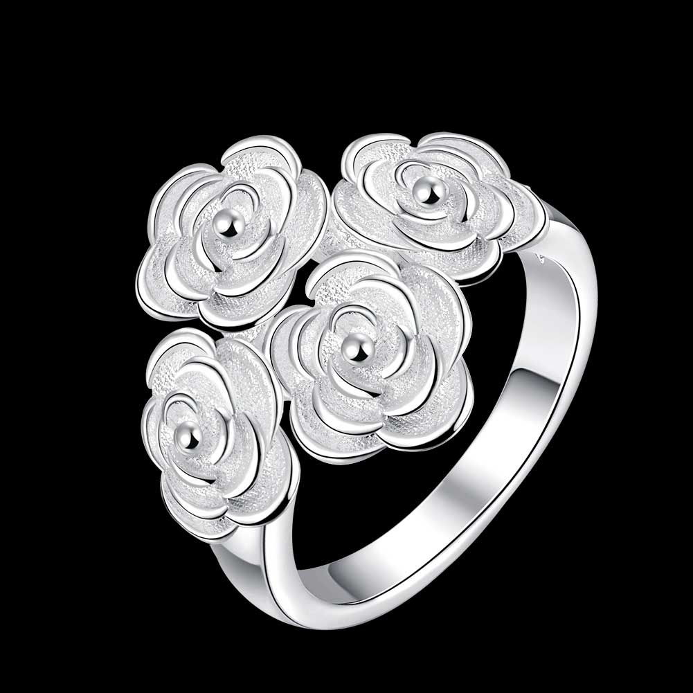 PATICO Personality Four Roses Woman Ringss