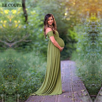 Maternity Photo Shooting Dresses Boat Neck Materntiy Photography Dress Stretch Cotton Short Sleeve Pregnant Dresses Large