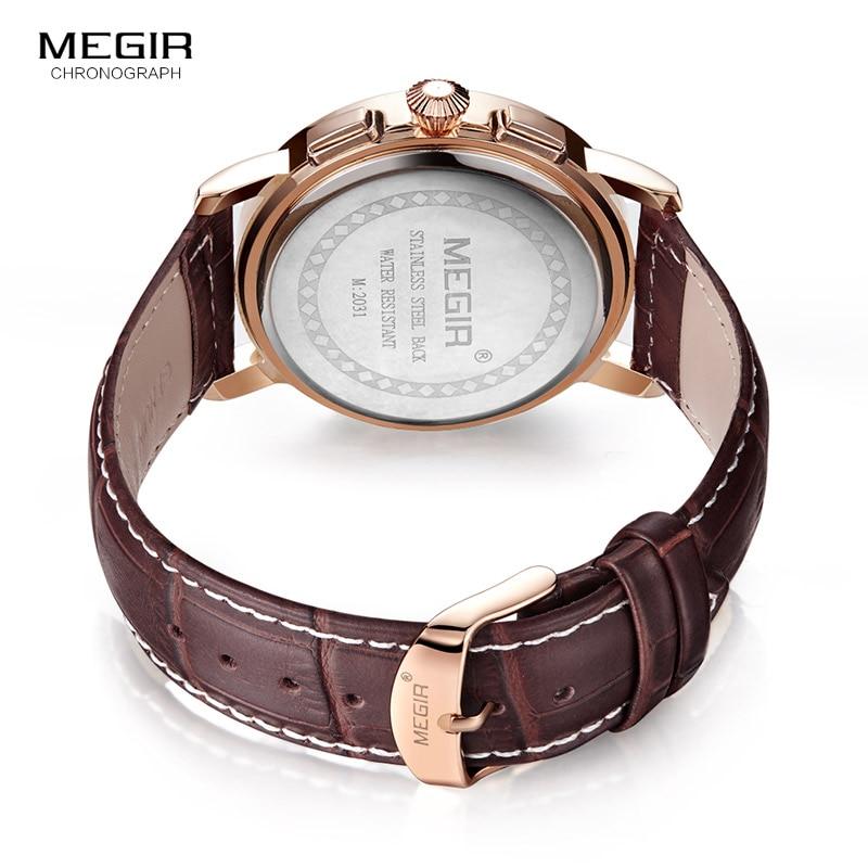 Megir Mens Chronograph Luminous Quartz Armbandsur Fashion Vattentät - Herrklockor - Foto 6
