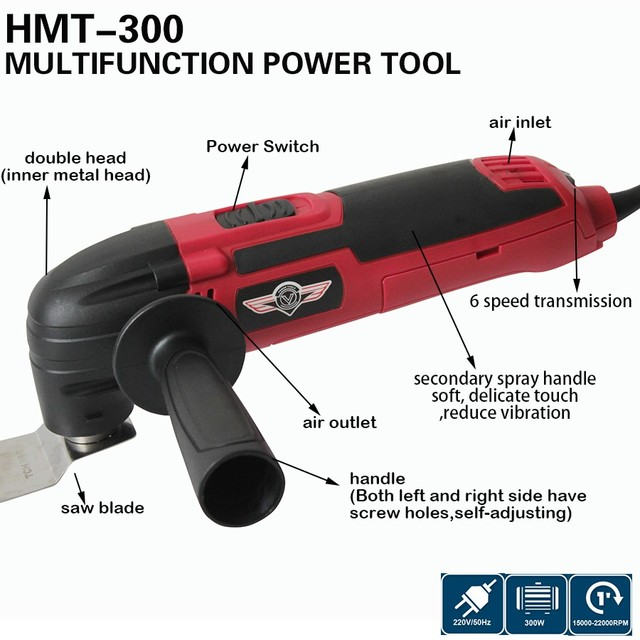Multi-Function Renovator Tool Electric Trimmer Power Tool,300w multi master oscillating tool DIY at home