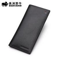 Buffalo Leather Wallet Long Slim Wallet Wallet Genuine Business Men S Leather Wallet