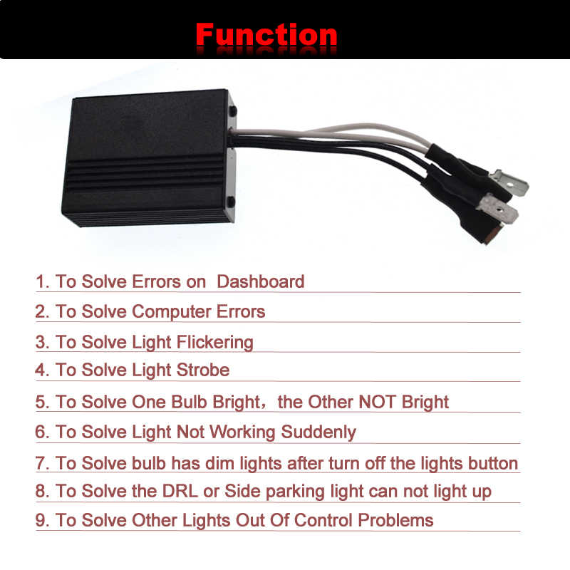 SKYJOYCE LED H1 H3 H7 Canbus Decoder H11 HB3 HB4 Warning Canceller Capacitor And Resistor Canbus For Car Headlight LED Fog Light