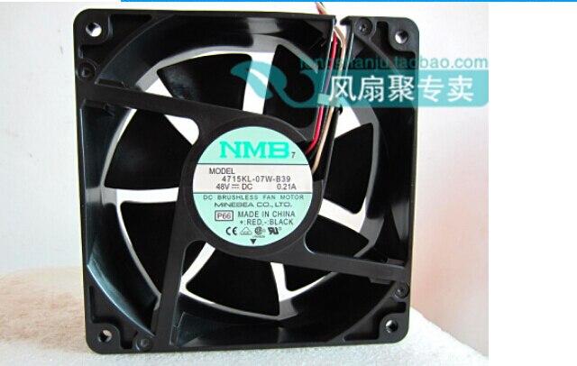 New original NMB 4715KL-07W-B39 48V 0.21A 12cm12038 120*120*38MM three lines radiating fan