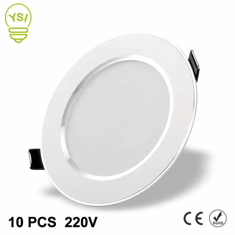 10Pcs Led Downlight 220V 240V 3W 5W 7W 9W 12W 15W LED Ceiling Round Recessed Lamp Waterproof LED Spot Light For Bathroom Kitchen