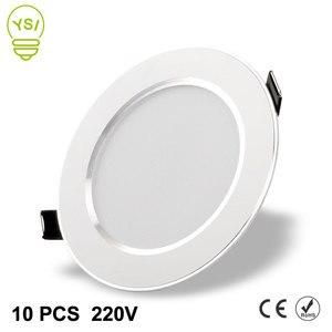 Image 1 - 10 個の led ダウンライト 220 v 240 v 3 ワット 5 ワット 7 ワット 9 ワット 12 ワット 15 ワット led シーリングラウンド凹型ランプ led スポットライト浴室キッチン