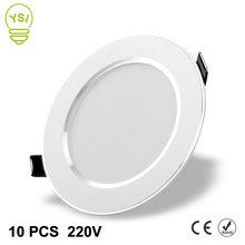 10 sztuk Led typu Downlight 220V 240V 3W 5W 7W 9W 12W 15W LED sufitowe okrągłe wpuszczone lampy reflektor LED do łazienki kuchnia