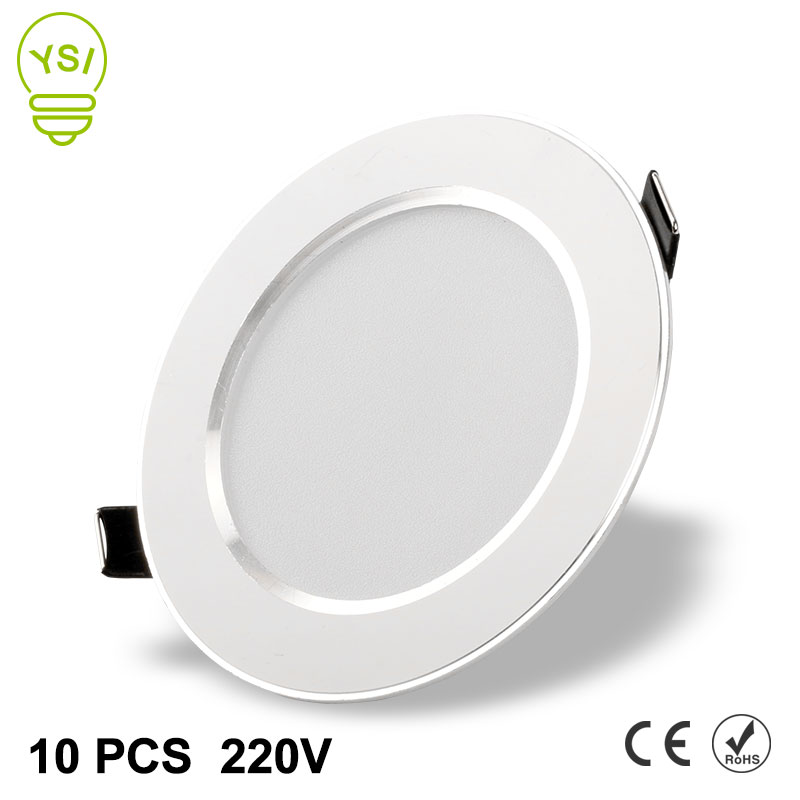 10Pcs Led Downlight 220V 240V 3W 5W 7W 9W 12W 15W LED Ceiling Round Recessed Lamp LED Spot Light For Bathroom Kitchen