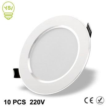 10Pcs Led Downlight 220V 240V 3W 5W 7W 9W 12W 15W LED Ceiling Round Recessed Lamp LED Spot Light For Bathroom Kitchen