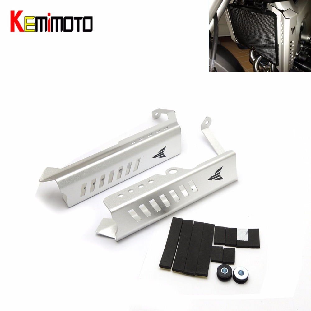 For Yamaha MT-09 FZ-09 MT09 Sliver Radiator Grills Guard Cover Protector For Yamaha MT-09 FZ-09  2014 2015 2016 100% brand  New mt09 mt 09 2014 2016 water coolant recovery tank shielding guard frame cover protector for yamaha mt 09 fz 09 fz09 cnc