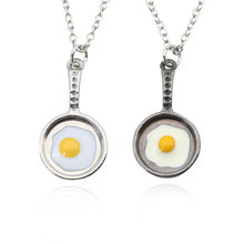 New Fashion Pant Saucepan Pendant Necklace Poached Eggs Charm Necklaces Trendy Jewelry Drop Shipping