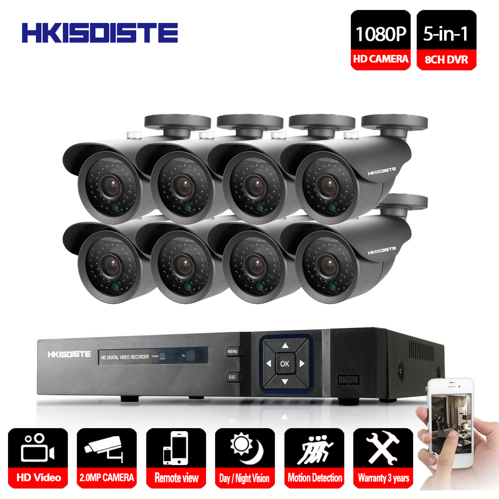 High Quality 1080P HD Outdoor Security Camera System 1080P HDMI CCTV Video Surveillance 8CH 1080N AHD DVR Kit HDD AHD Camera Set raymond weil часы raymond weil 1600 sts 00618 коллекция shine page 4