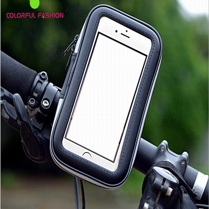 Велосипед Телефон Сумка непромокаемые сенсорный экран мобильного телефона держатель велосипедов водонепроницаемая куртка телефон чехол …