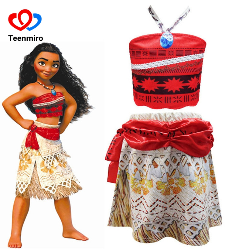 Kids Cosplay Costume Dresses For Girls Moana Children Clothing Christmas Party Princess Vaiana Dress Girl Gifts Adventure Outfit hot sale kids personalized christmas gifts moana adventure mo ahna moana princess doll gift anime toy figures toys for children