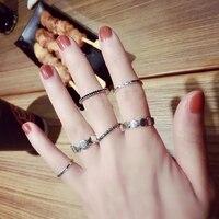 2018 koreanische Styke Finger Charme Ringe für Frauen Sechs Stücke Luxus Heißer Mädchen Vintage Ring Modeschmuck Persönlichkeit Zubehör