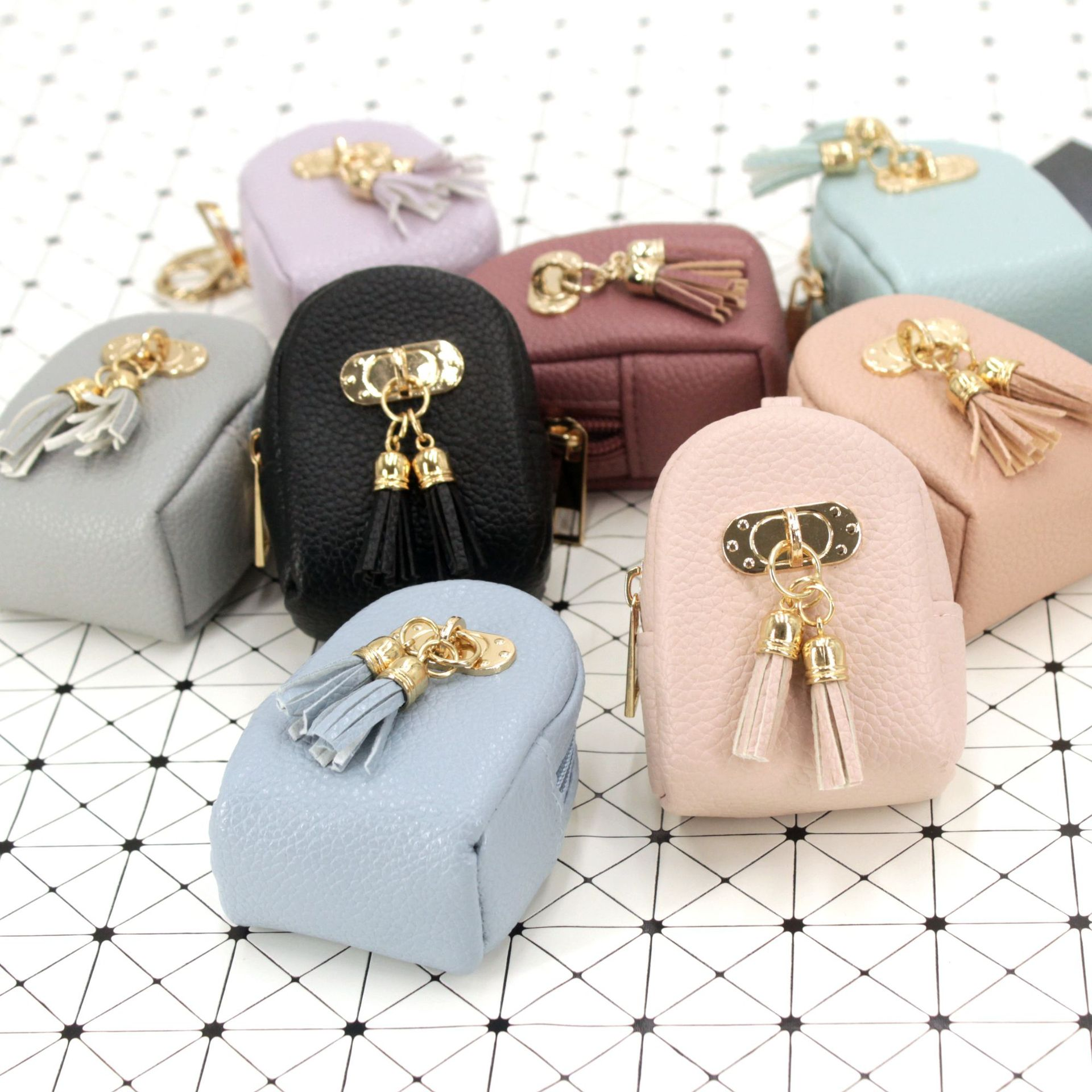 Tassel coin purses women mini wallets small money bags Lady designer brand key bags Female high quality clutch change purse #20