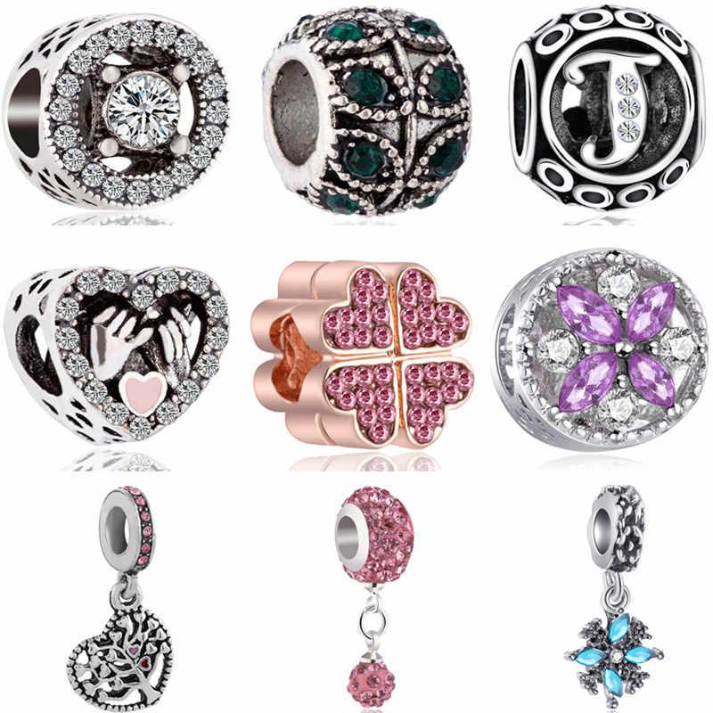 Grande déclaration creux papillon oiseau cerise feuille émail perles charmes Fit Pandora Bracelets et Bracelets pour les femmes amant bijoux à bricoler soi-même