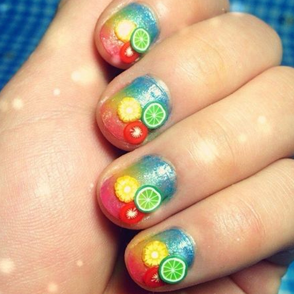 Candy Lover 3D Polymer Clay Tiny Fimo Fruit slices Wheel Nail Art ...