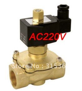 Free Shipping 5PCS 1'' Normally Open Water Solenoid Valve Brass NBR Model 2W250-25-NO AC220V free shipping 5pcs 1 brass solenoid valve 12v normally closed water diesel 2w250 25 fkm