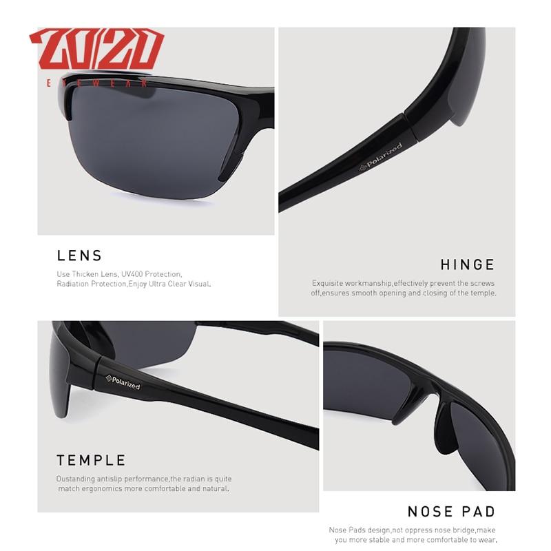 f5b7f14ce81 20 20 Brand Design Classic Black Polarized Sunglasses Men Vintage Square  Lens Sun Glasses Male Driving Eyewear Gafas PL289-in Sunglasses from  Apparel ...