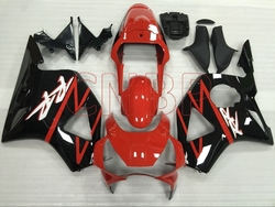 Fairing CBR 954 RR 2002 - 2003 Black Red Fairing Kits for Honda Cbr954RR 2003 Abs Fairing CBR 954 RR 03 no paint