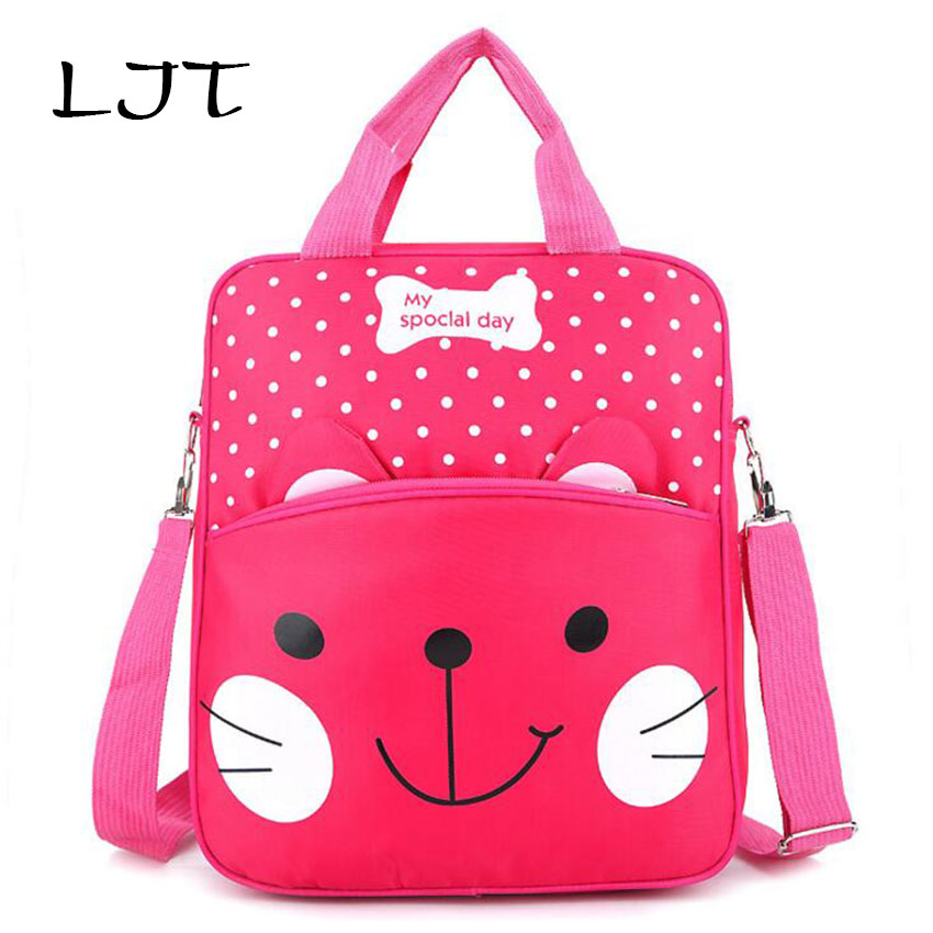 LJT 2017 Autumn Childrens School Bags Primary School Bag Students Cartoon Shoulder Bag Kids Cute Art Backpack Girls Travel Bag