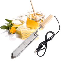220V Electric Stainless Steel Extractor Uncapping Knife Cut Bee Hive Honey Scraper European