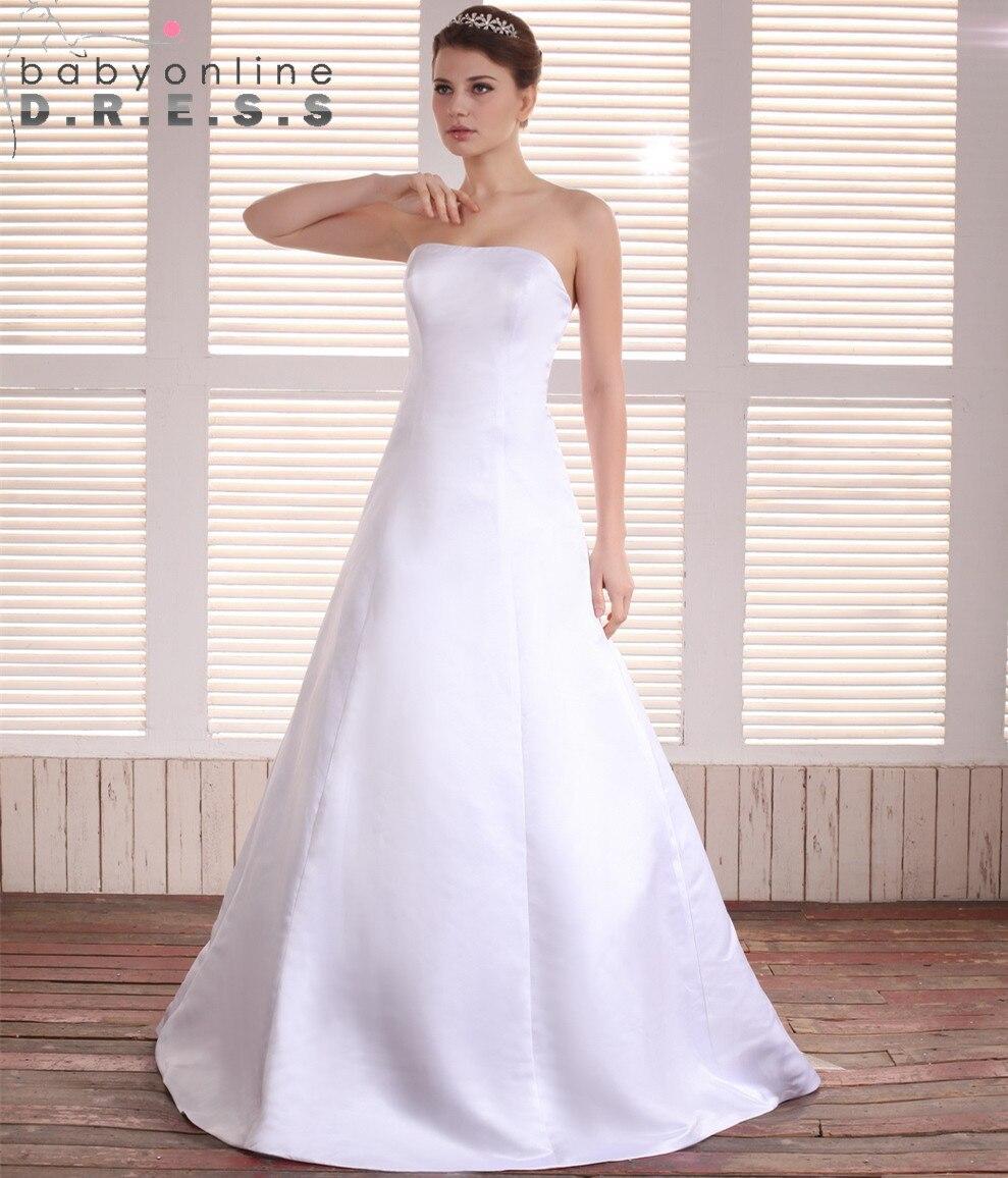 Real Simple Weddings 2017: Vestido De Novia Casamento Simple Strapless Cheap Wedding