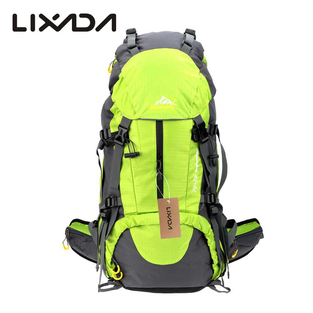 add2c8a93935 US $19.99 48% OFF|Lixada 50L Outdoor Climbing Bags Knapsack Sport Camping  Backpack Nylon Climbing Backpack Capacity Travel Bag with Rain Cover-in ...