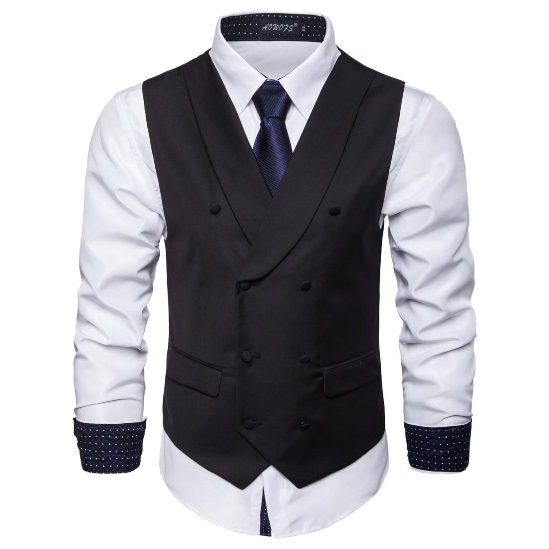 Jacquard Waistcoat Vest  Party Wedding Suit THigh-quality Goods Cotton Fashion Design Vest  High-end Men's Business Casual Suit
