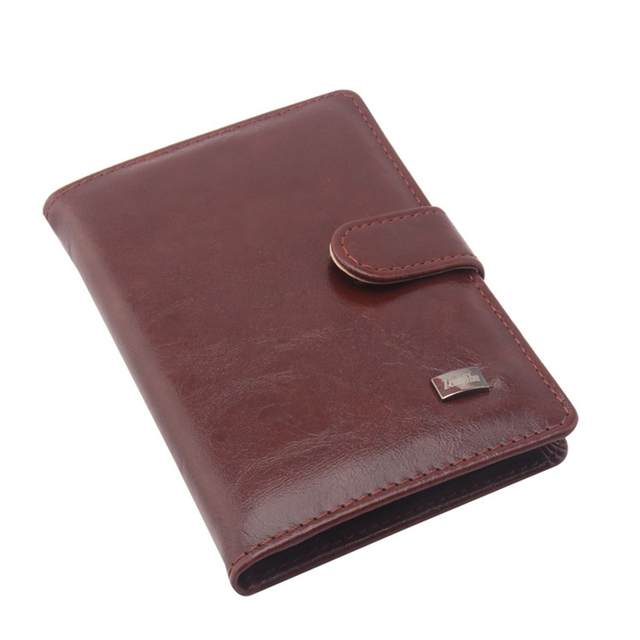 26239f10e635 PU Leather Passport Cover Credit Card Wallets Men Travel Wallet Business Card  Holder Cover On The Passport Holder Organizer