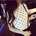 2017 Women Chiffon Blouse Blusas Temininas Print Polka Dot Summer Tops Chemise Femme  Korean Korean Fashion Clothing Vetements