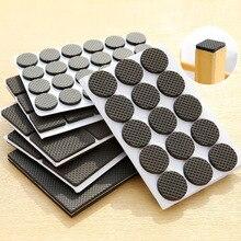 30 unids/set de almohadillas protectoras de suelo para muebles DIY resistentes a los arañazos antideslizantes de goma adhesiva, taburetes de mesa y sillas