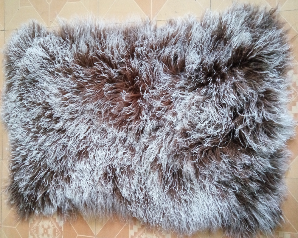 2016 Real Frosted Tibetan Lamb Fur Plate Real Fur Rug For Bedrooms Decorative
