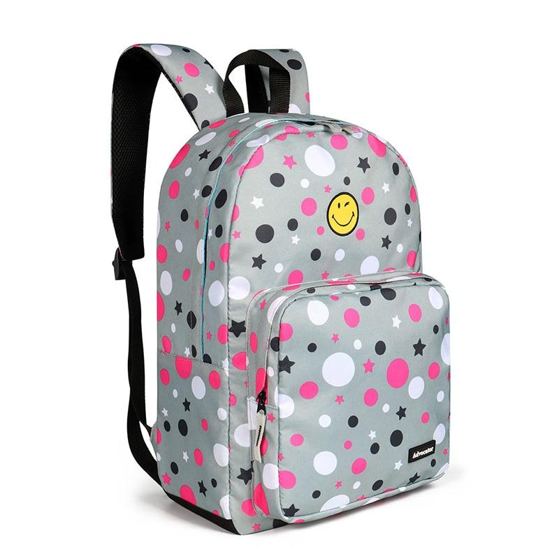 Advokator Skoletasker til pige Cute Dot Printing Teenagers Kvinder Laotop Rygsæk Mochila Afslappet taske Skolerygsæk Bøger til børn