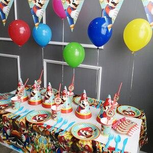 Аниме Супер Марио Run Луиджи персик Дети День рождения поставка украшений для вечеринок детский день рождения партии поставки конфеты бар