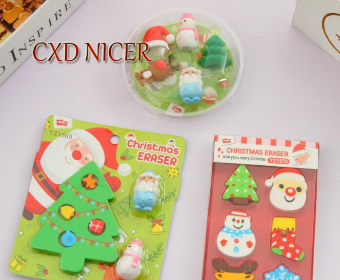 Christmas Eraser Gift Box Stationery Kindergarten Children Primary School Students Rubber Learning Prizes Small Gifts Wholesale m&g stationery set primary school pupil intelligence box multifunctional kindergarten teaching aid prize