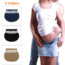 MUQGEW Maternity Pants Pregnancy Waistband Belt Extender Adjustable Elastic Pants Waist ceinture abdominale(China)