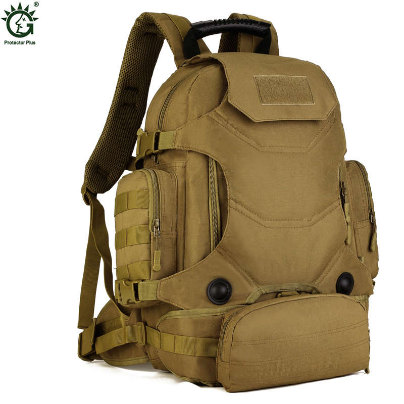 ФОТО Men's Military Backpack High Quality Waterproof Nylon Women Laptop Back Bag Camouflage Multifunction Men Travel Rucksack 2017