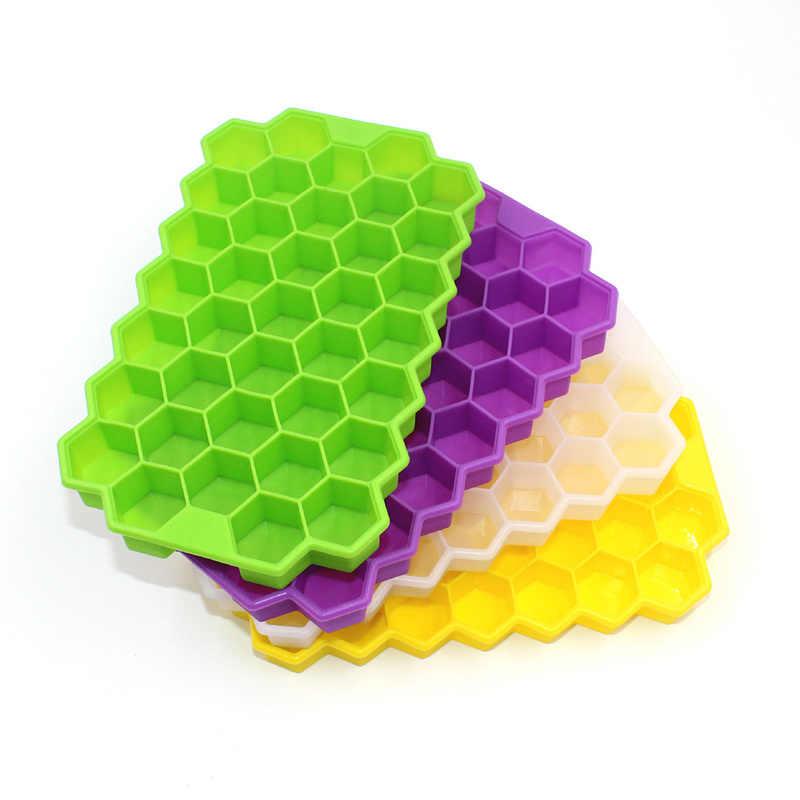 37 شبكة من قوالب مكعبات الثلج على شكل قرص العسل من السيليكون لصنع المثلجات والمفرقعات والفواكه لإكسسوارات مشروبات النبيذ وأدوات المطبخ والشراب