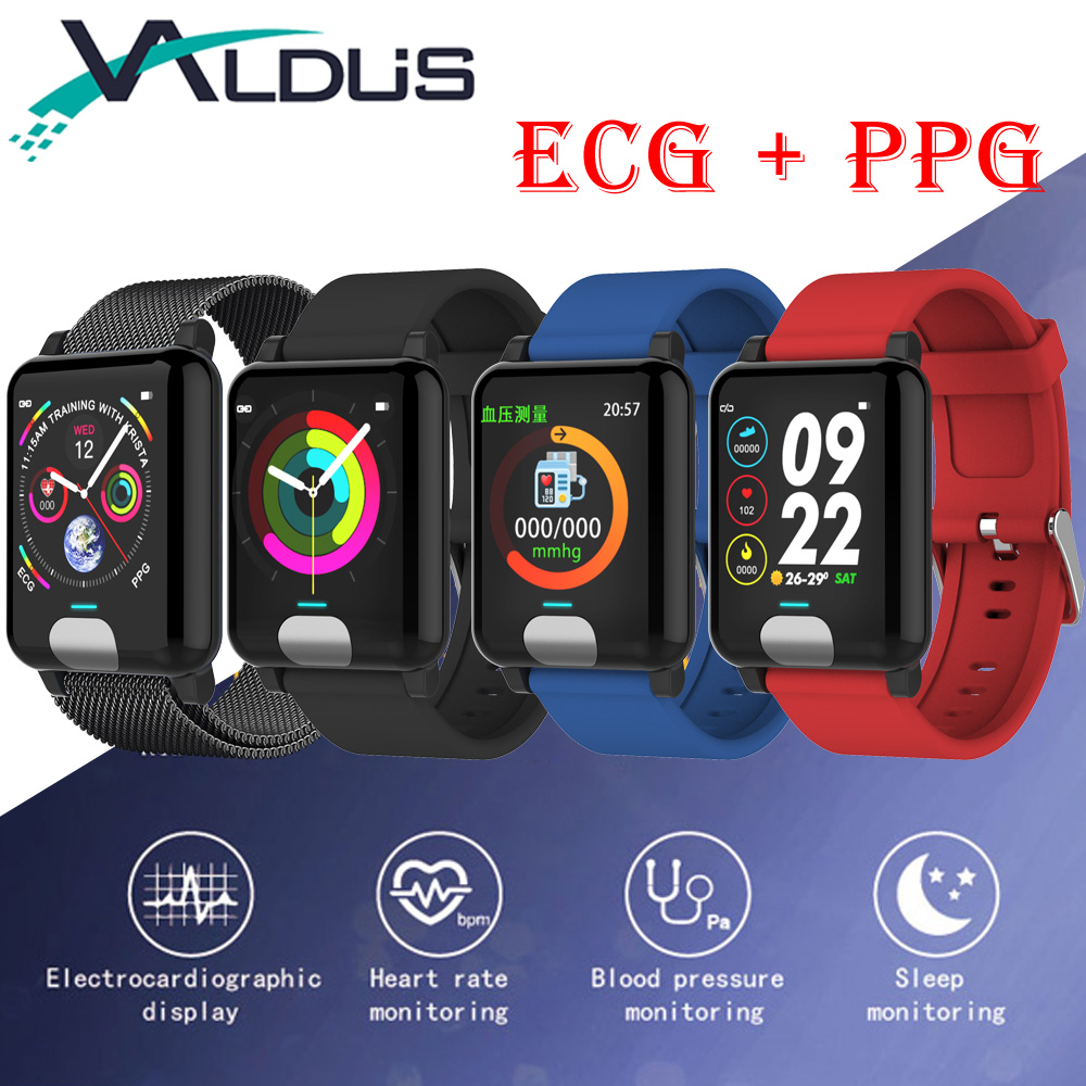 Valdus E04 Smart Wristband Bracelet ECG PPG Heart Rate Blood Pressure Monitor Fitness Tracker Smartband For Android IOS Phone цена