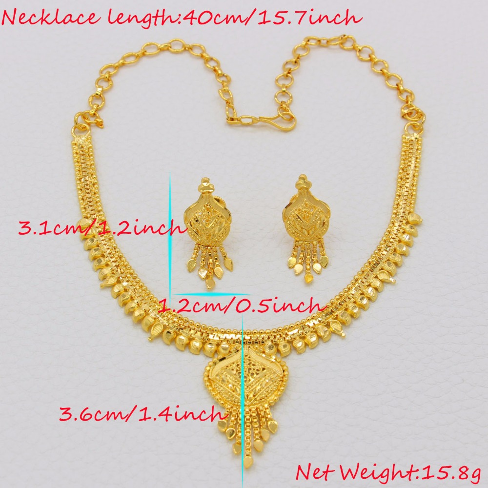 weight sets girls earrings gold adixyn light exquisite set from necklace for gifts women ethiopian india party in item jewelry color